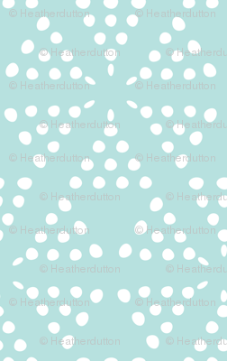 Retreat - Modern Geometric Dot Light Aqua Blue