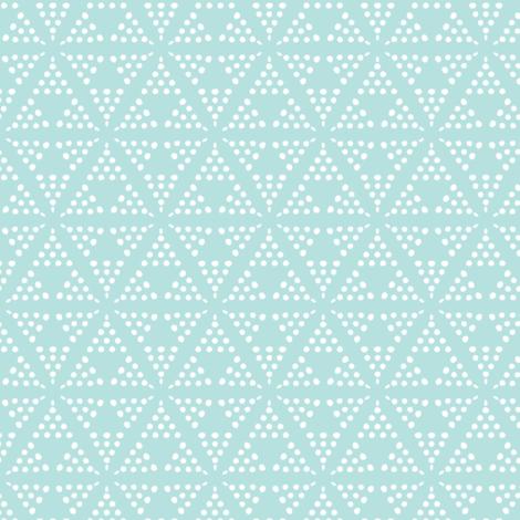 Retreat - Modern Geometric Dot Light Aqua Blue fabric by heatherdutton on Spoonflower - custom fabric