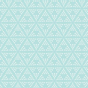Retreat - Modern Geometric Dot Light Aqua Blue