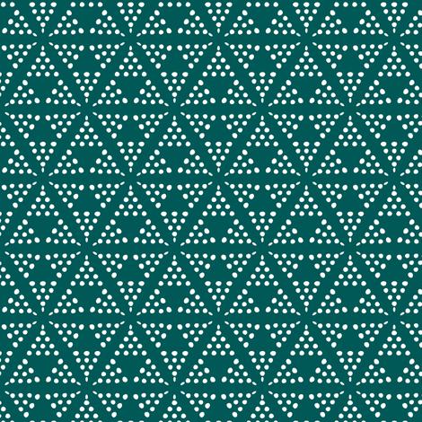Retreat - Modern Geometric Dot Dark Teal fabric by heatherdutton on Spoonflower - custom fabric