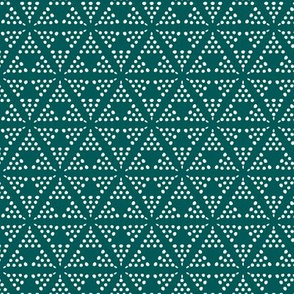 Retreat - Modern Geometric Dot Dark Teal