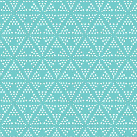 Retreat - Modern Geometric Dot Aqua Blue fabric by heatherdutton on Spoonflower - custom fabric