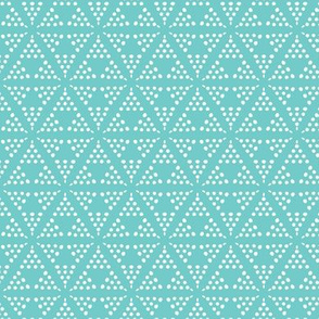 Retreat - Modern Geometric Dot Aqua Blue