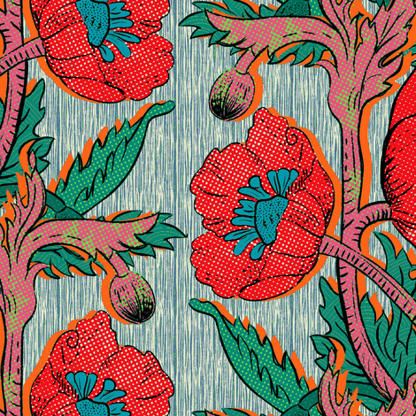 Poppy#2 fabric by susiprint on Spoonflower - custom fabric