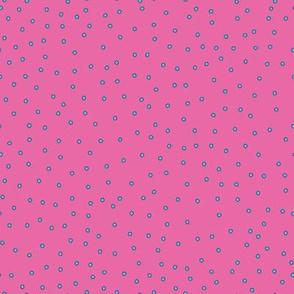 Geometric Pink Polka Dots