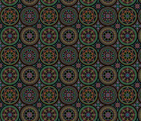 Mandala fabric by carimateo on Spoonflower - custom fabric