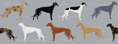 greyhounds fabric larger version - dogs greyhound coats colors fabric