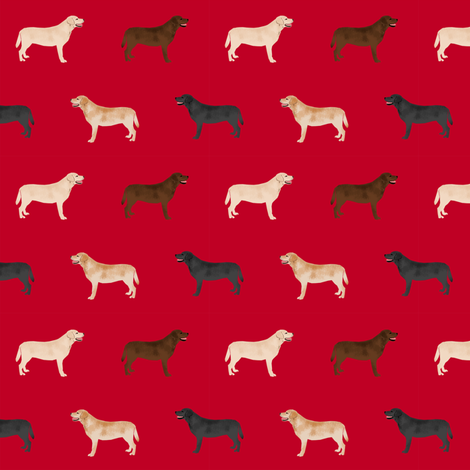 labrador retriever dog fabric dogs design - red fabric by petfriendly on Spoonflower - custom fabric