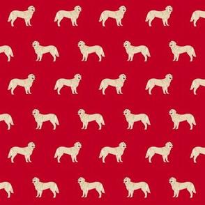 golden retriever dog fabric dogs design - red