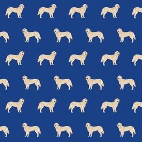 golden retriever dog fabric dogs design - royal blue