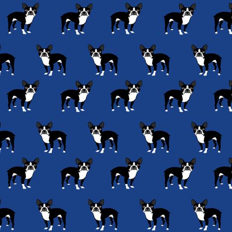 boston terrier fabric dog fabrics - royal blue fabric by petfriendly on Spoonflower - custom fabric