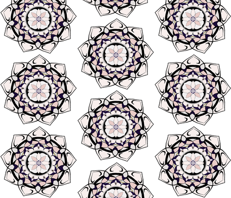 All my Heart Mandala fabric by christine_marie_designs on Spoonflower - custom fabric