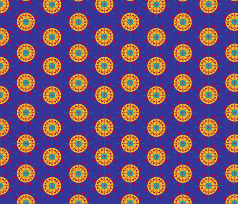 Blue Mandala fabric by thepurplepeach on Spoonflower - custom fabric