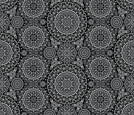 black___white_Mandalas fabric by woodmouse&bobbit on Spoonflower - custom fabric