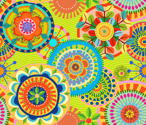 Folk Mandalas fabric by chicca_besso on Spoonflower - custom fabric