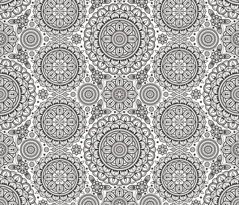 white___black_Mandalas fabric by woodmouse&bobbit on Spoonflower - custom fabric