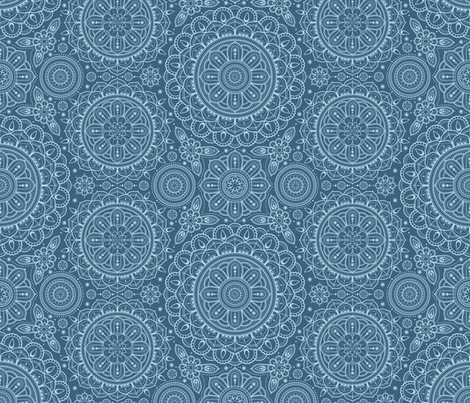 Teal_Mandalas fabric by woodmouse&bobbit on Spoonflower - custom fabric
