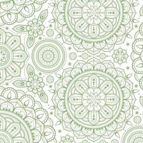 green_on_white_Mandalas