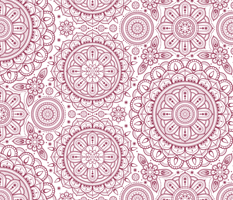 large_red_on_white_Mandalas fabric by woodmouse&bobbit on Spoonflower - custom fabric