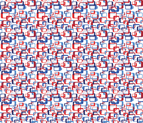 Mod_Boxes_Scramble_Patriotic fabric by alchemiedesign on Spoonflower - custom fabric