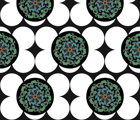 MidCenturyMandala6-pak fabric by amsterdamsel on Spoonflower - custom fabric