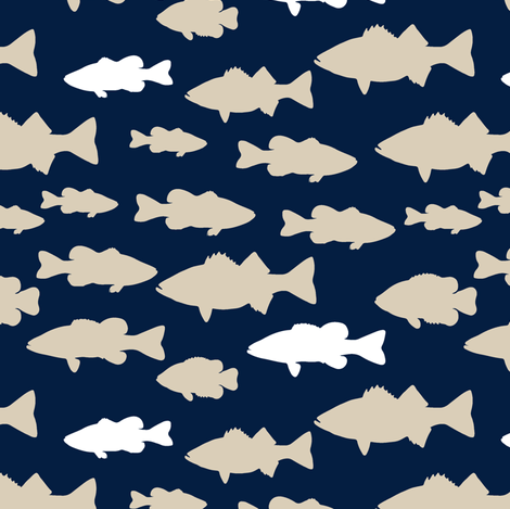 fish || rustic woods collection fabric by littlearrowdesign on Spoonflower - custom fabric