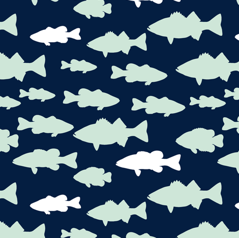 fish || the northern lights collection fabric by littlearrowdesign on Spoonflower - custom fabric
