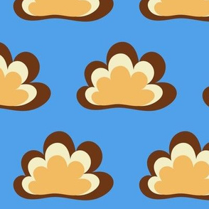 Happy Clouds on Blue