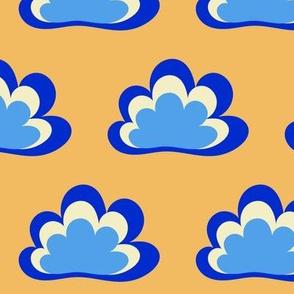 Happy Clouds on Saffron