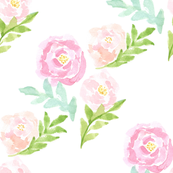 floral watercolor roses