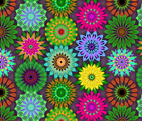 Floral Mandala Celebration fabric by elramsay on Spoonflower - custom fabric