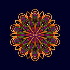 """""""Lily of the South"""" Mandala"""