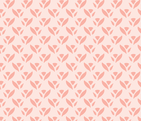 Triangle Daylily Coral Pink fabric by deniseanne on Spoonflower - custom fabric