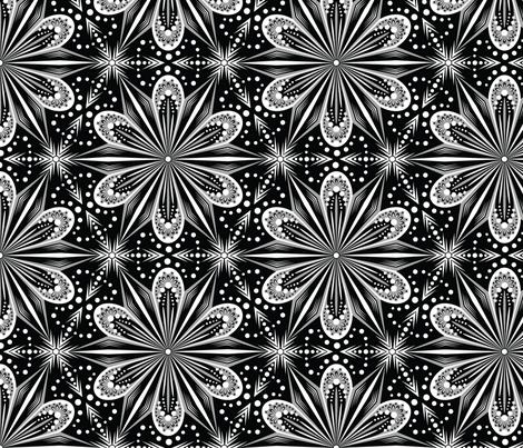 Mandala Lace (B&W) fabric by jjtrends on Spoonflower - custom fabric