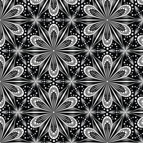 Mandala Lace (B&W)