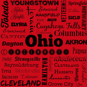 Ohio Cities, red
