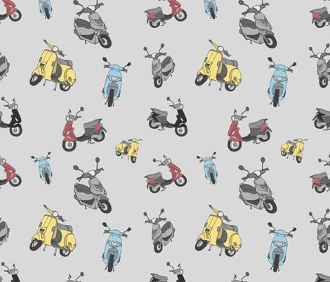 Vespa fabric by carambola_pattern_design on Spoonflower - custom fabric