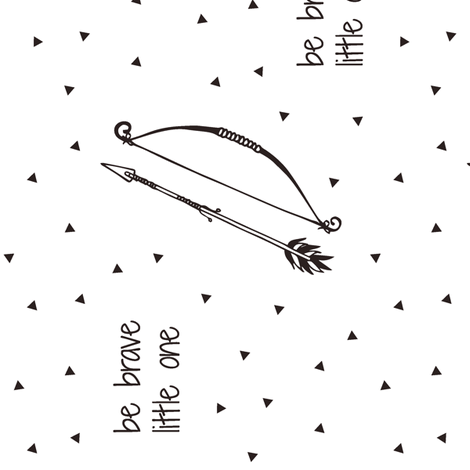 Be Brave Little One // Bow and Arrow (90) fabric by littlearrowdesign on Spoonflower - custom fabric