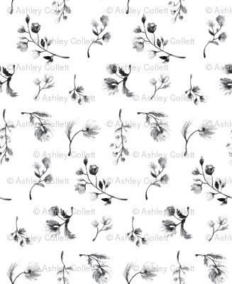 Sweet Black & White Floral