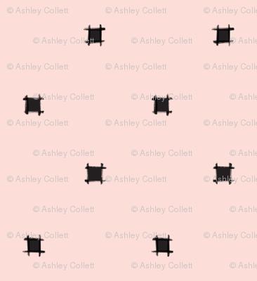 Blush Pink Square Polka Dot