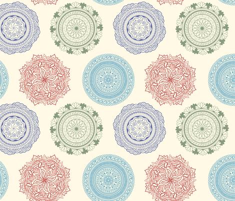 Earth Water Fire Air Mandalas fabric by moonpuff on Spoonflower - custom fabric