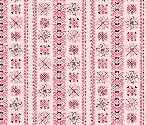 Swedish Valentine Hearts fabric by acdesign on Spoonflower - custom fabric