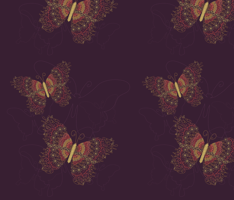 Butterfly fabric by endla on Spoonflower - custom fabric