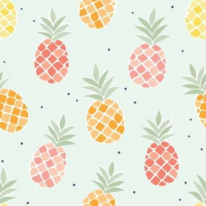 Colorful Pineapples - Blue