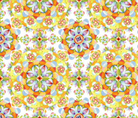 Coronet Mandala fabric by patriciasheadesigns on Spoonflower - custom fabric