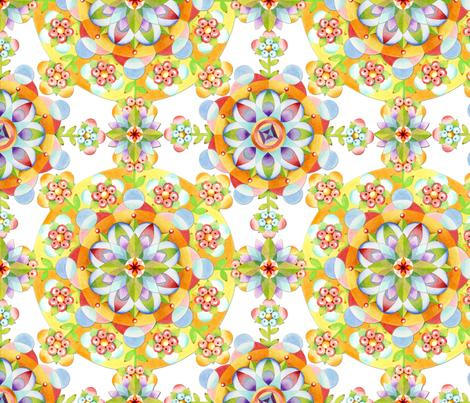 Coronet Mandala (simpler) fabric by patriciasheadesigns on Spoonflower - custom fabric