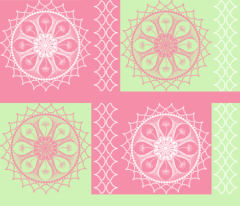 Lace and Lotus Mandalas-gloriapjlee28 fabric by gloriapjlee28 on Spoonflower - custom fabric