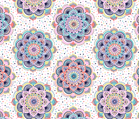 mandala pattern  fabric by laura_may_designs on Spoonflower - custom fabric