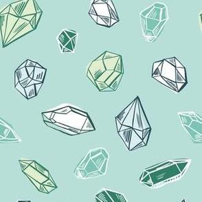 Diamonds in mint