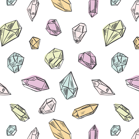 Diamonds multicolor fabric by revista on Spoonflower - custom fabric